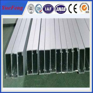 OEM silver aluminum profile manufacturer, aluminum extrusion series 6063-t6 Manufactures