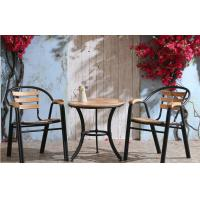 China Stackable Outdoor Cast Iron Steel Dining Chairs With Plastic Soft Mats on sale