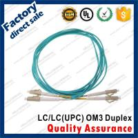 lc-lc/upc OM3 10Gb optic fiber patch cords for structure cabling gray connectors Duplex Aqua pvc sheath jacket Manufactures