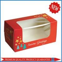 high quality clear PVC window paper packing box custom color print for gift products Manufactures