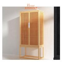 Modern Hotel Furniture Pull Out Doors Closet Wardrobe In Natural Lacquer Finish Manufactures