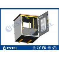 Outdoor Pole Mounted Telecom Cabinet / Small Enclosure For Pole Mount With 19 Inch Rack Battery Shelf Manufactures