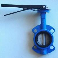 High Performance Cast Iron Wafer / Flanged Butterfly Valves with Metal-seated Sealing Manufactures