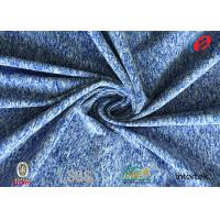 China Weft knit Rayon Viscose Brushed Polyester Spandex Fabric Twill Type For Yoga fabric on sale