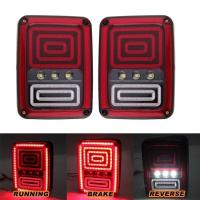 Black LED Tail Lights Rear Light For Jeep Wrangler JK 07-16 Rear Bumper Tail Lamp Manufactures
