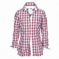 Ladies checkered shirt/casual shirt/cotton blouse/long-sleeved blouse Manufactures