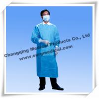 China Sterile Surgical Gown Fluid Resistant Lab Coats Surgeon Protection With Knit Sleeves on sale