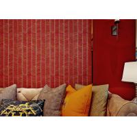 China 0.53*10m Sound proof Living Room Wallpaper with Stirpped Pattern , CSA SGS Standard on sale