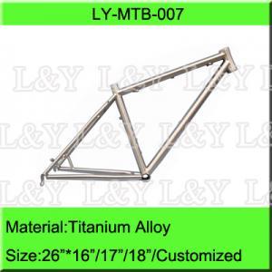 26 Inch Titanium Mountain Bike Frame Manufactures