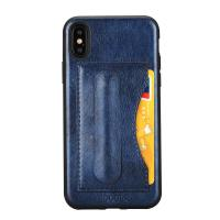 Idools leather  for iphone X  iphone 10  back cover  one card slot  support stand holder PC TPU soft leather case Manufactures