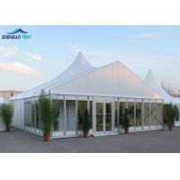 China Church Festival Marquee Party Tent , Trade Show Conference Glass Wall Tent on sale