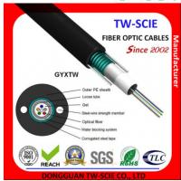 China Single / Multi Mold Outdoor Steel Tape Armoured Cable GYXTW Black Outer Sheath Color on sale