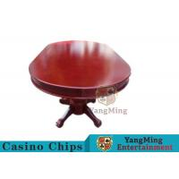 110 Inch Deluxe 10 Person Casino Poker Table With Customized Countertop Runway Manufactures