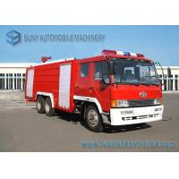 6X4 12000L Water Fire Fighting Trucks 360hp FAW Chassis Double Row Cabin Manufactures