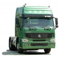 China howo 4x2 prime mover tractor truck / tractor head for pulling Low bed semi trailer on sale