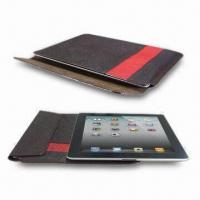 China Leather Sleeves for Apple's iPad2, Made of Full Grain Cowhide Leather, Comes in Slip-in Style on sale