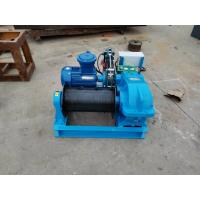 China High Speed Industrial Electric Winch , Electric Wire Rope Winch 2 Ton With Button Control on sale
