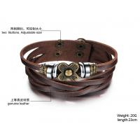 Buy fashion jewelry Womens Fashion Vintage Anchors Rudder Rectangle Leather Bracelet  BR38 Manufactures
