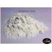 China Clomiphene Citrate White Powder CAS 50-41-9 Anti - Estrogen Steroid 99% Purity on sale