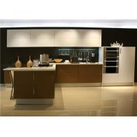 L Shaped Plywood UV Kitchen Cabinet Lacquer Finish Contemporary European Style