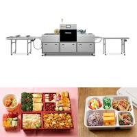 China 304 SS Skin Packaging Equipment Map Tray Sealer Machine To Vacuum Pack Food on sale