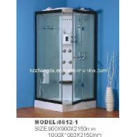 China Computer Control Shower Room with Black Aluminum Frame Hinge Door on sale