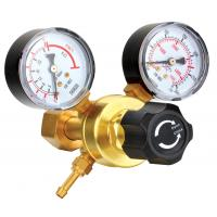 Small Compressed Gas Pressure Regulator With Gauge For Manufactory / Construction Manufactures