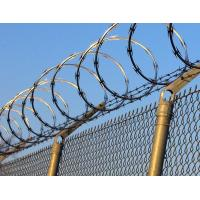 Zinc Coated Galvanized Steel Chain Link Fence Application With Razor Barbed Wire Manufactures