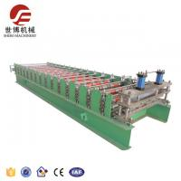China Hot Saled Color Steel Roofing Sheet Roll Forming Machine With New Design Cutting System on sale