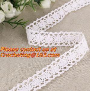 50 YARDS COTTON LACE fabric lace ribbon lace trim, SOFT COTTON, CLUNY CROC Manufactures