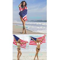 China 70*140cm(27''*55'')Cotton Canadian flag American flag British flag Summer Beach Towel on sale