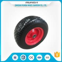 "ATV Pneumatic Heavy Duty Trolley Wheels 16""X6.50-8 Ribbed Pattern Straight Valve Manufactures"