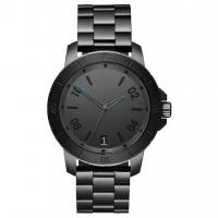 China Luxury Minimalist Waterproof Watch , Black Mens Bracelet Watch Logo Customized on sale