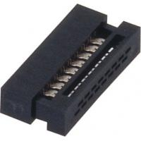 1.27mm 16 Pin Idc socket  Connector PBT black  30%GF UL94V-0  ROHS Manufactures