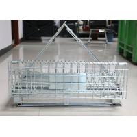 Lockable Steel Q235 Euro Collapsible Wire Container In Logistics Manufactures