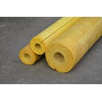 High Temp Glass Wool Pipe Insulation , Yellow Glasswool Pipe Cover Manufactures