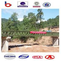Assembly Steel Bailey Bridge deck truss Concrete Deck , Galvanized portable bridge, Manufactures