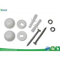 Stainless Steel Toilet Closet Bolts Cross Headed With PP Decoration Cap Manufactures