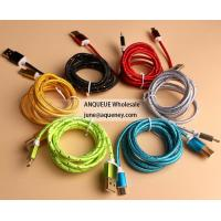 Quality Wholesale 1.5M Nylon Braid Black good Quality Micro USB Cable for iPhone, Samsung for sale