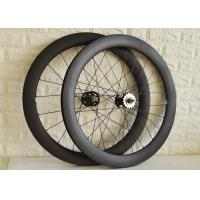 Buy cheap Clincher tubular carbon track bike wheels 60mm 88mm disc wheelset from wholesalers