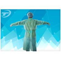 China Medical Lab Breathable Disposable Scrub Suits Non woven With Shirt Collar Knitted Cuff on sale
