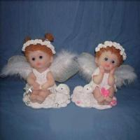 Hand-painted Angel, Made of Porcelain and Polyresin, Available in Different Sizes Manufactures