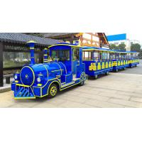 62 Seats Electric Trackless Train Trackless / Outdoor Tourist Train with Lithium Battery Manufactures