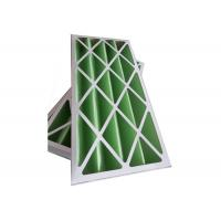 Rigid Pleated Panel Air Filters , Clean Room Pre Filter G1 - G4 With Cardboard Frame Manufactures