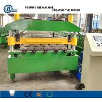 Quality Automatic PLC Control Glavanized Trapezoidal Roofing Sheet Roll Forming Machine With Hydraulic Station for sale