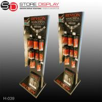 Custom hanging floor display with hooks for cosmetic products Manufactures