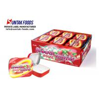 China Sour Sweets Sugar Free Candy For Diabetics , Tin Box Round Mint Candy on sale