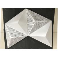 Powder Coat Pearl White Commercial Ceiling Tiles , 3D Triangle Clip Floating Ceiling Tiles Manufactures