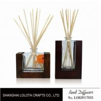 Wooden Bottom Based Aroma Reed Diffuser , Home Scent Reed Diffuser Certificate Manufactures