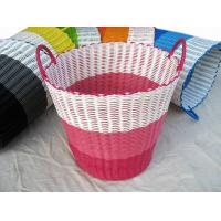28401 PE woven basket, laundry basket, storage basket, waterproofing hand woven basket Manufactures